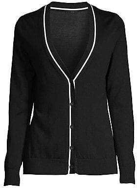 Elie Tahari Women's Luella Merino Wool Cardigan Sweater