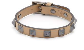 Valentino Rockstud-embellished leather bracelet