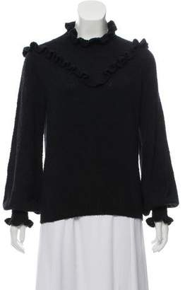 DÔEN Ruffle-Accented Long Sleeve Sweater w/ Tags