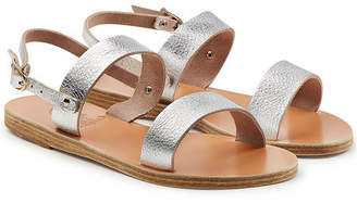 Ancient Greek Sandals Clio Metallic Leather Sandals