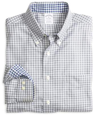 Brooks Brothers Non-Iron Slim Fit Framed Mini Check Sport Shirt
