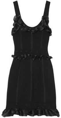 Alexander McQueen Ruffle-trimmed Cloque-knit Mini Dress