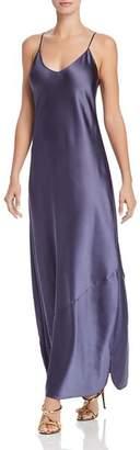 Aqua Satin Maxi Slip Dress - 100% Exclusive