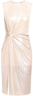 PAISIE - Twist Knot Metallic Dress In Champagne