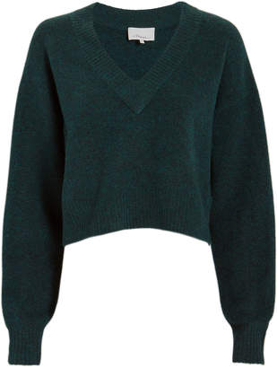 3.1 Phillip Lim Lofty V-Neck Green Sweater