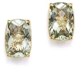 Bloomingdale's Green Amethyst Stud Earrings in 14K Yellow Gold - 100% Exclusive