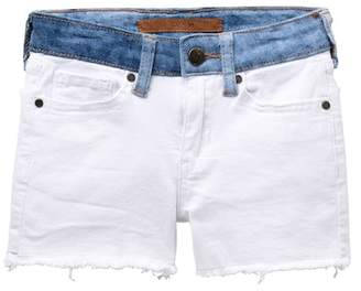 Joe's Jeans Mid Rise Stretch Denim Frayed Shorts (Big Girls)