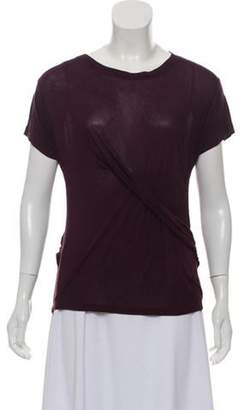 Karl Lagerfeld Paris Bateau Neck Draped Top Purple Bateau Neck Draped Top
