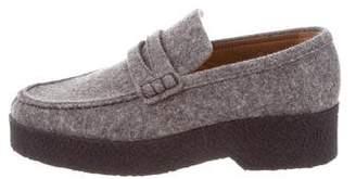 Celine felt Platform Loafers