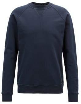 BOSS Hugo Crew-neck sweatshirt in recot2& French terry XXL Dark Blue