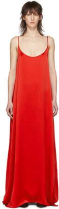 Mansur Gavriel Red Silk Slip Dress