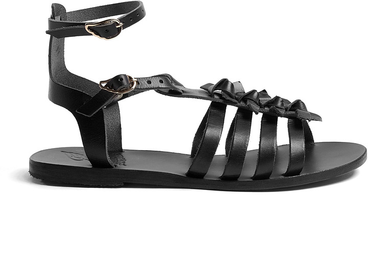 Ancient Greek Sandals Artemis Leather Gladiator Sandals