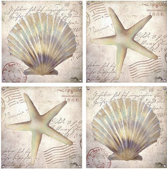 Thirstystone COLLECTION Beach Shells Set of 4 Coasters