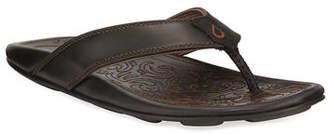 OluKai Waimea Leather Thong Sandal