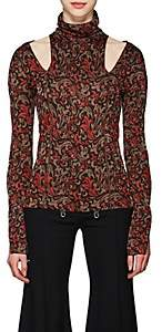 Chloé Women's Baroque-Print Knit Cutout Sweater - Red Pat.
