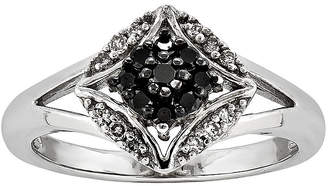 Black Diamond FINE JEWELRY 1/4 CT. T.W. White and Color-Enhanced Ring