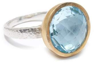 Gurhan Two-Tone Blue Topaz Galapagos Ring - Size 7