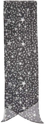 Stella McCartney Black and White Silk Star Scarf