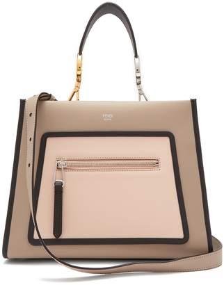 Fendi Runaway leather tote bag