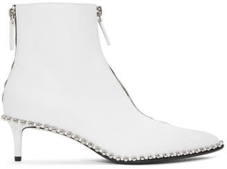 Alexander Wang White Eri Low Boots