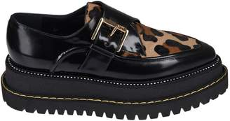 N°21 N.21 Leopard Platform Monk Shoes