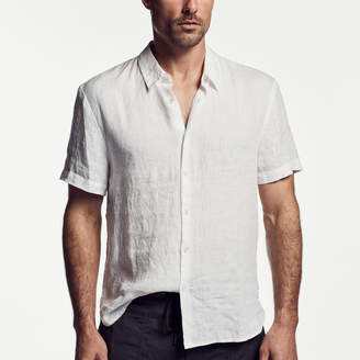 James Perse LINEN SHORT SLEEVE SHIRT