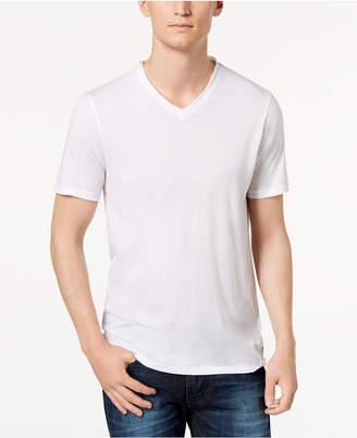 GUESS Men's Raw Edge V-Neck T-Shirt