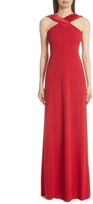 Emporio Armani Satin Neck Gown