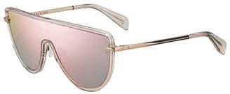 Rag & Bone Acetate & Metal Mirrored Shield Sunglasses
