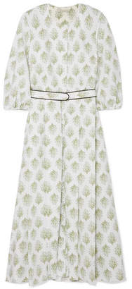 Emilia Wickstead Hilary Printed Cotton-poplin Dress - White