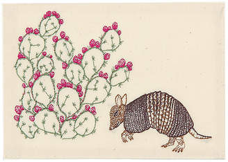 Coral & Tusk Armadillo & Prickly Pear Note Card