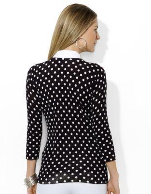 Lauren Ralph Lauren Removable-Collar Crewneck Sweater