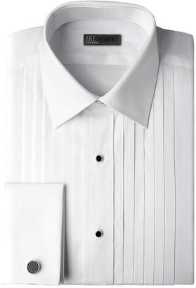 Ike Behar Traditional Fit 100% Woven Cotton Tuxedo Dress Shirt with French Cuffs