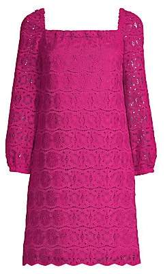 Trina Turk Women's Lace Squareneck Shift Dress