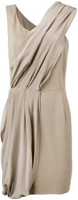 D-Exterior D.Exterior diagonal drape dress