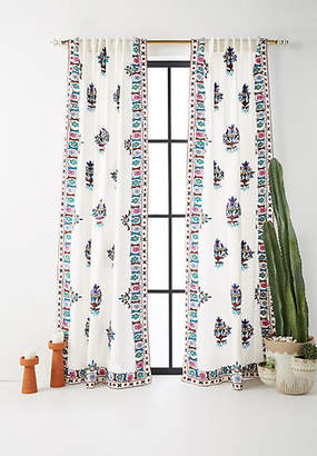 Anthropologie Embroidered Esther Curtain