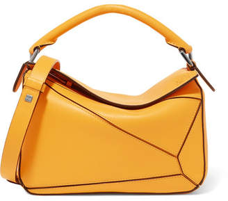 Loewe Puzzle Textured-leather Shoulder Bag - Yellow
