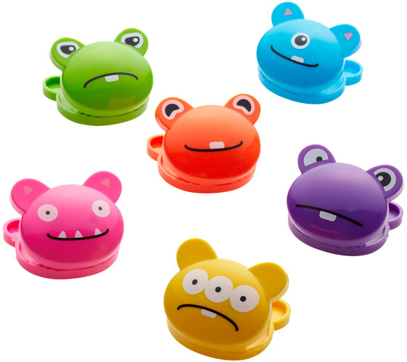 Container Store Monster Bag Clips Multi Pkg/6
