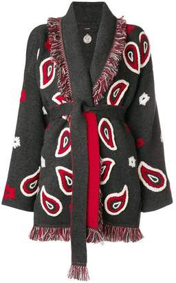 Alanui cashmere paisley belted cardigan