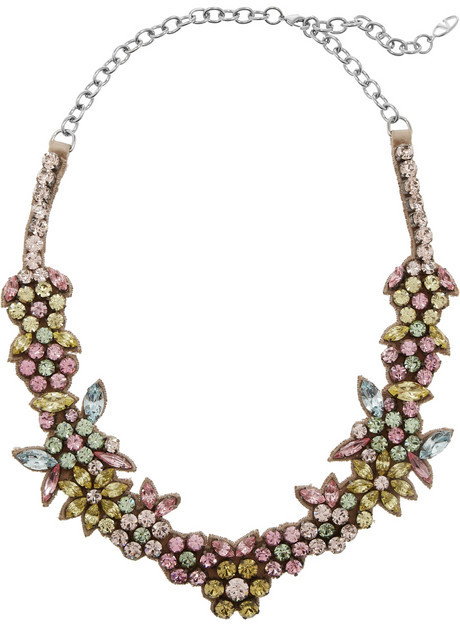 Valentino Swarovski crystal floral necklace