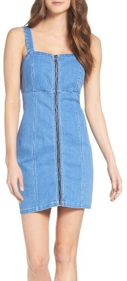 Women's Bardot Zip Denim Dress $109 thestylecure.com