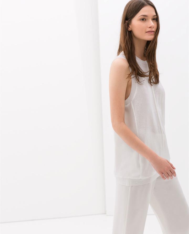 Zara Fine Knit T-Shirt