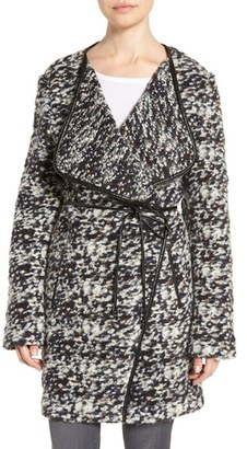 French Connection Belted Tweed Bouclé Coat $168 thestylecure.com