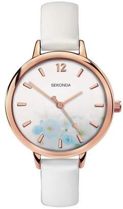 Sekonda Ladies White Analogue Fashion Strap Watch 2623.28