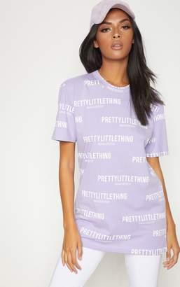 PrettyLittleThing Black Pretty Little Thing Manchester Slogan T Shirt