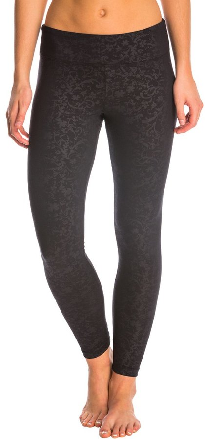 Marika Balance Collection Embossed Flat Waist Yoga Leggings 8138921