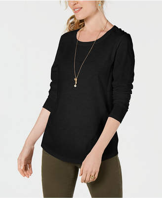 Style&Co. Style & Co Long-Sleeve Crewneck Top