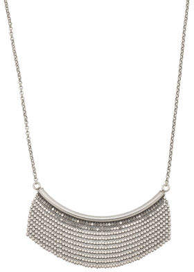 Made In Italy Sterling Silver Diamond Cut Fringe Necklace
