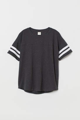 H&M T-shirt with Stripes - Gray