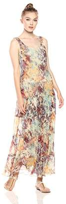 Nine West Women's Printed Multi Tier Maxi Dress